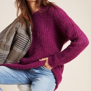 Anthropologie Violet Oversized Camila Long Sweater